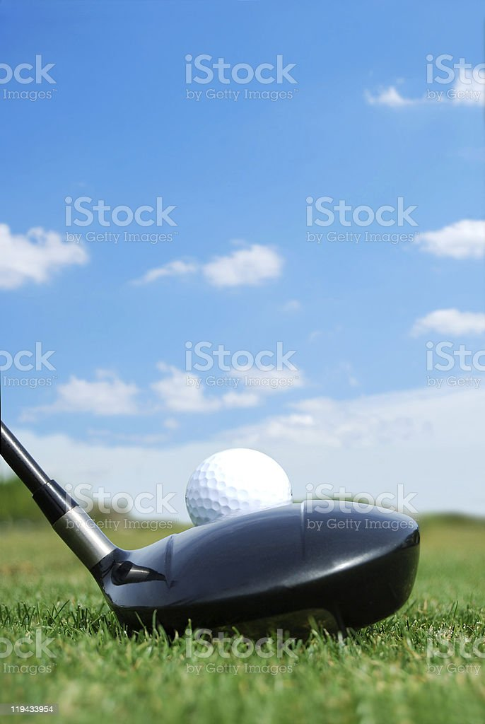 Teed Up royalty-free stock photo