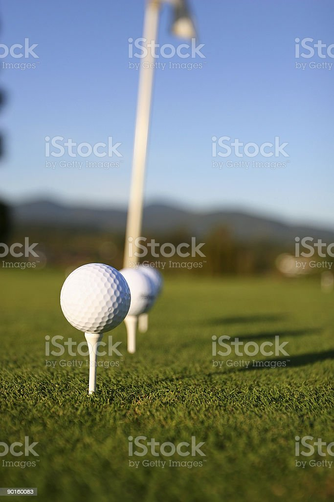 Tee'd Up royalty-free stock photo