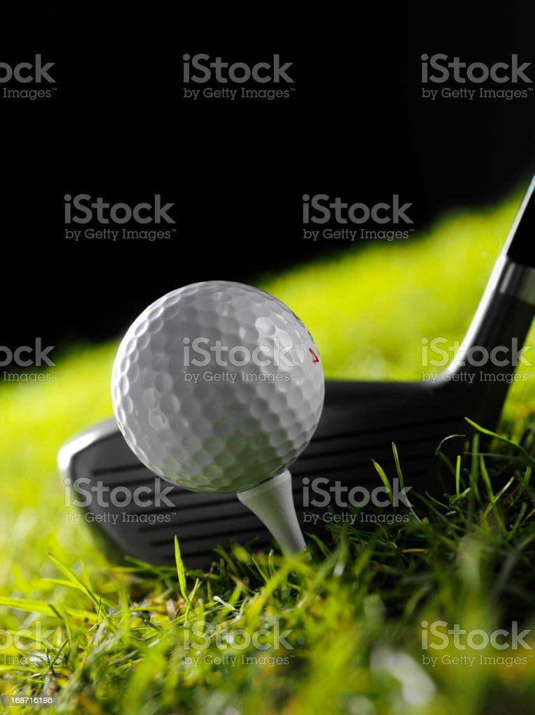 Teeing a Golf Ball royalty-free stock photo