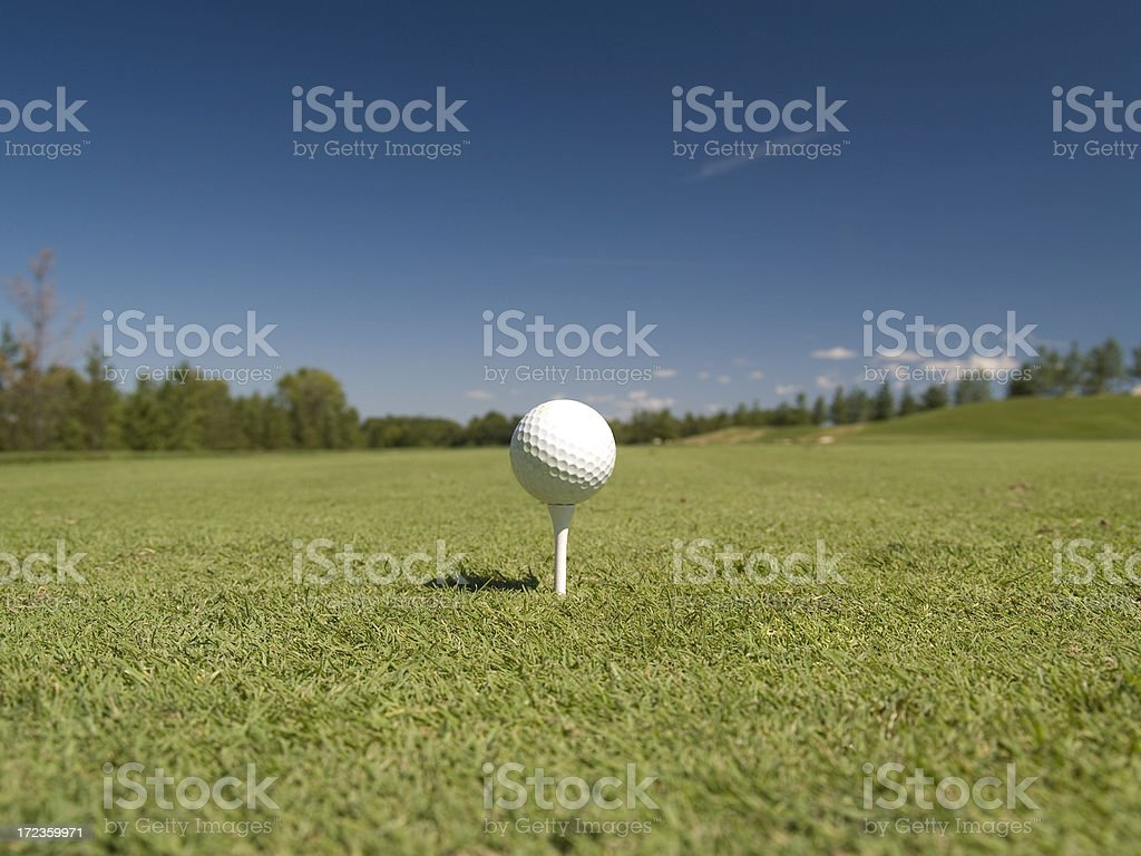 Teeing Off (Landscape) royalty-free stock photo