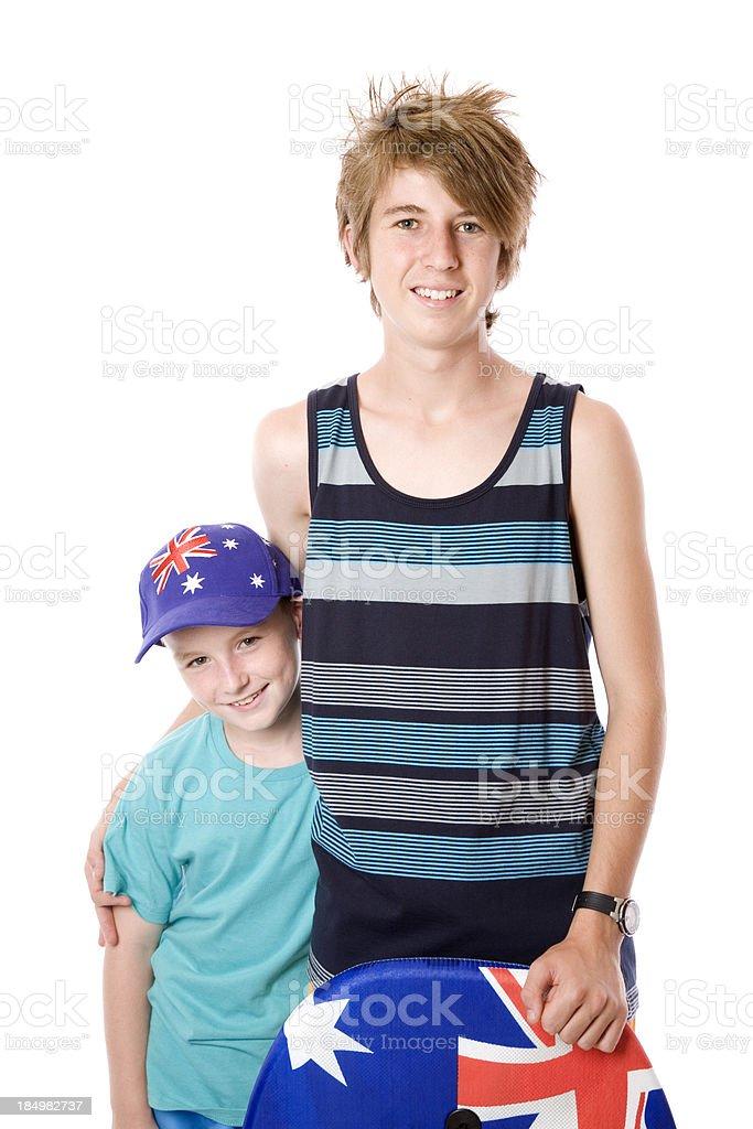 Teen and Boy stock photo