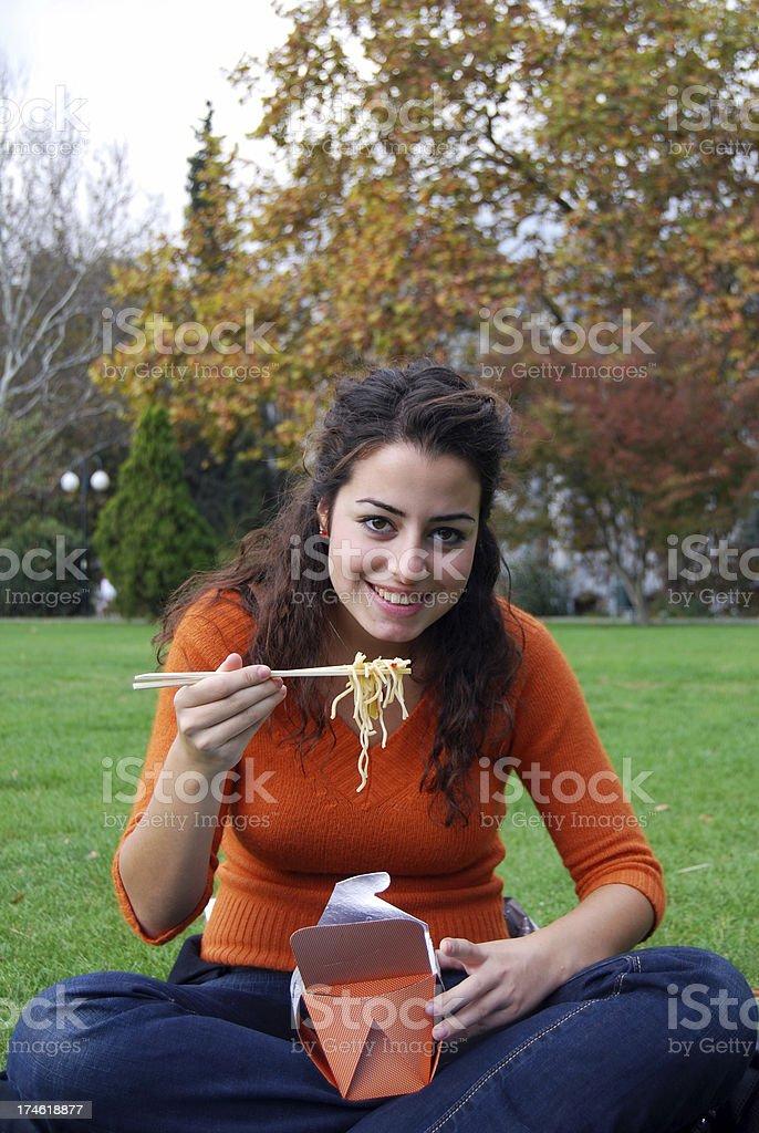 teen at campus royalty-free stock photo