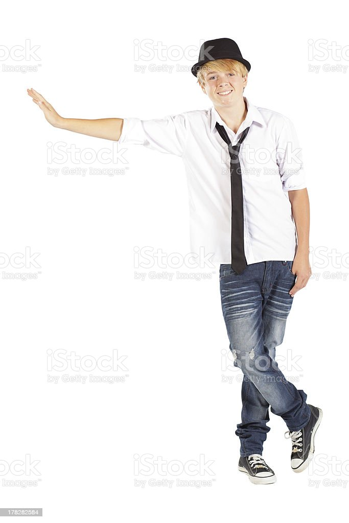 teen boy isolated on white royalty-free stock photo