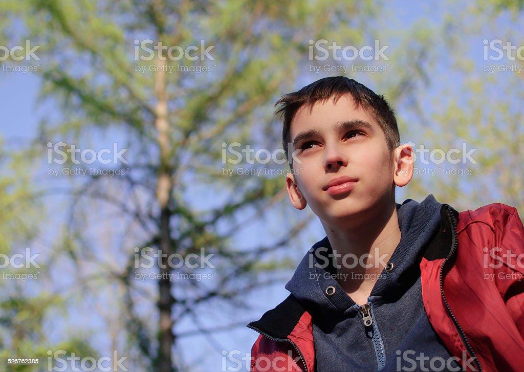 Teen boy portrait stock photo