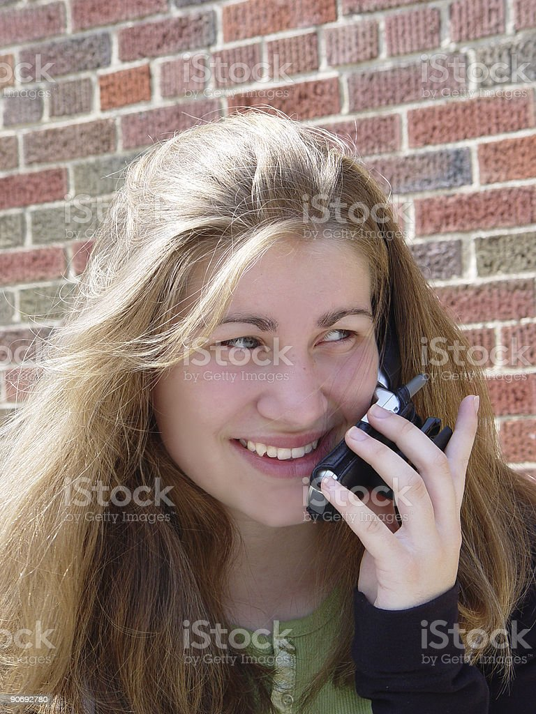 teen - cell phone stock photo