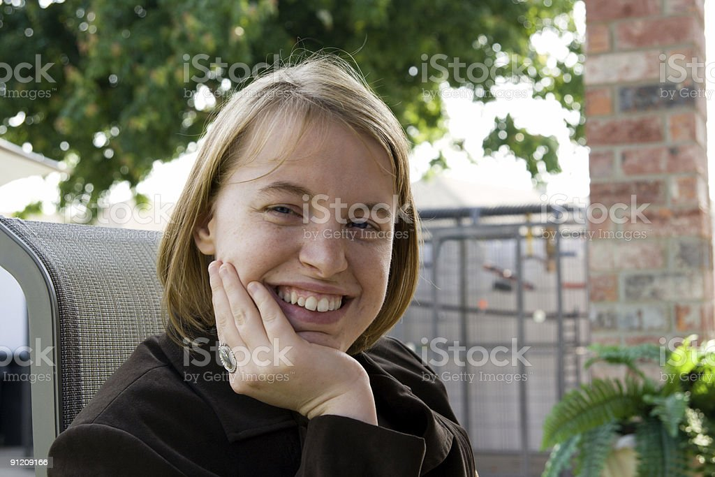 Teen Chilling royalty-free stock photo