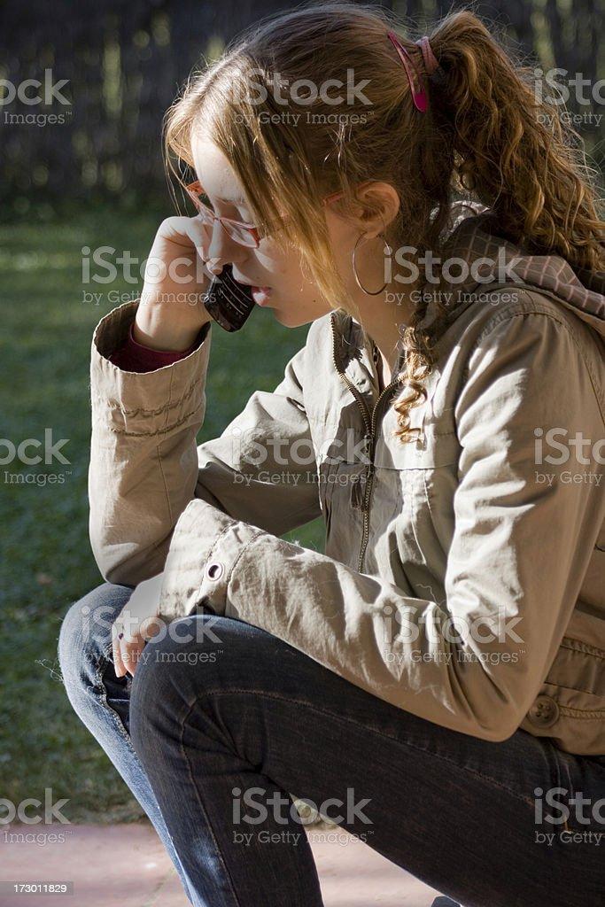 Teen communication stock photo