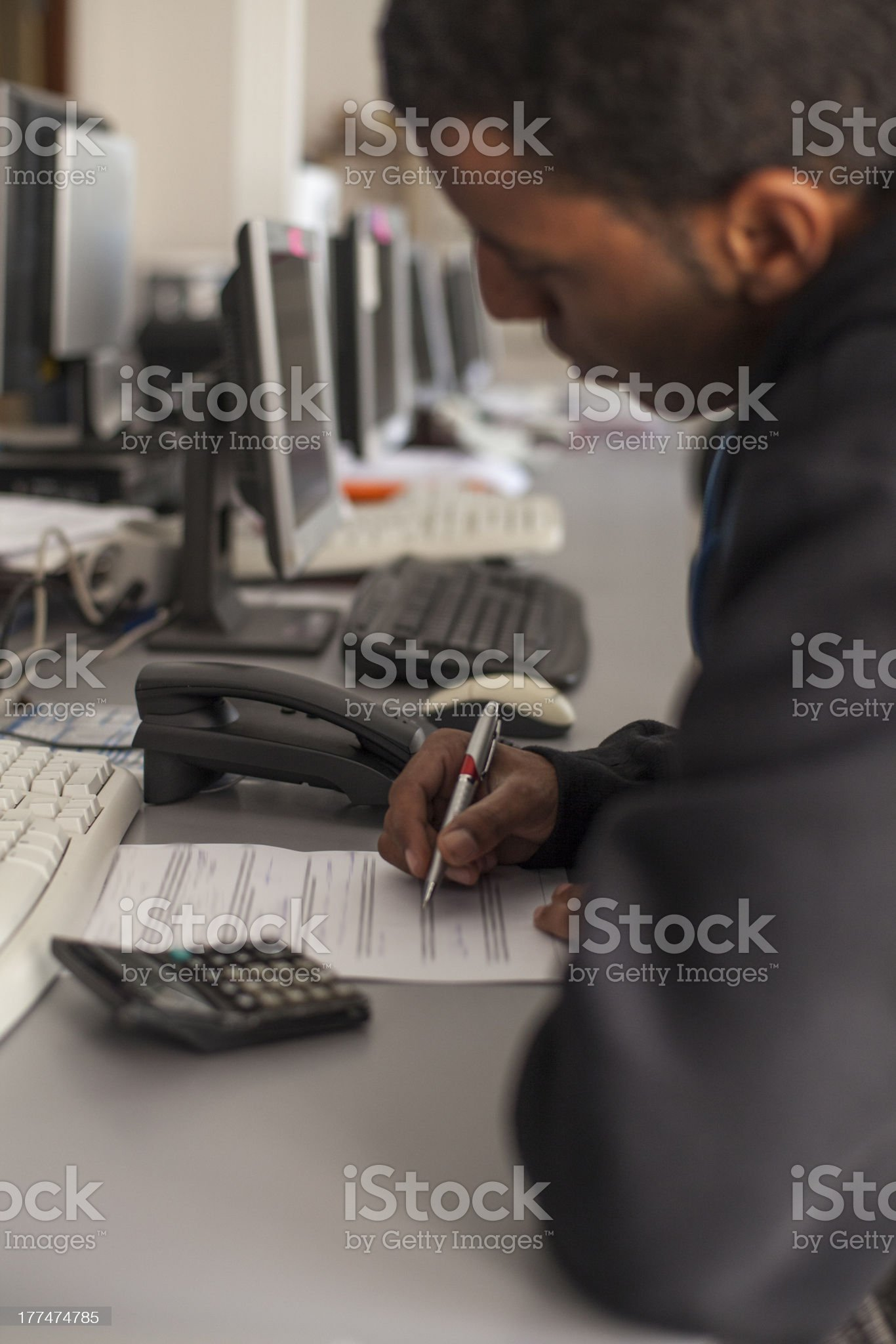 Teen Doing Homework royalty-free stock photo