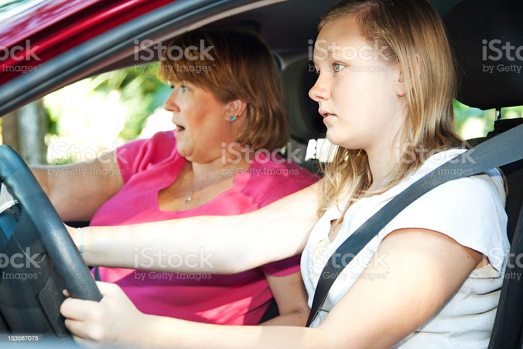 Teen Driver - Car Accident royalty-free stock photo