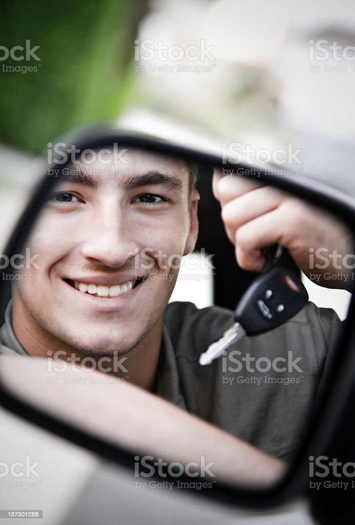 Teen Driver stock photo
