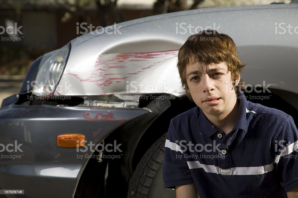 Teen Driver royalty-free stock photo