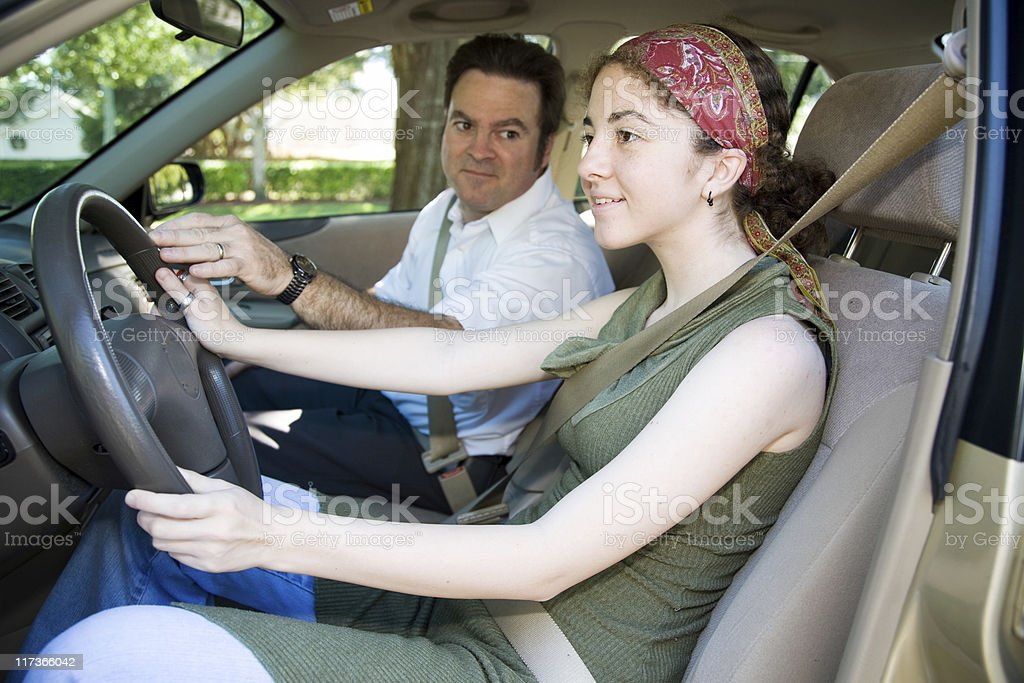 Teen Drivers Education stock photo