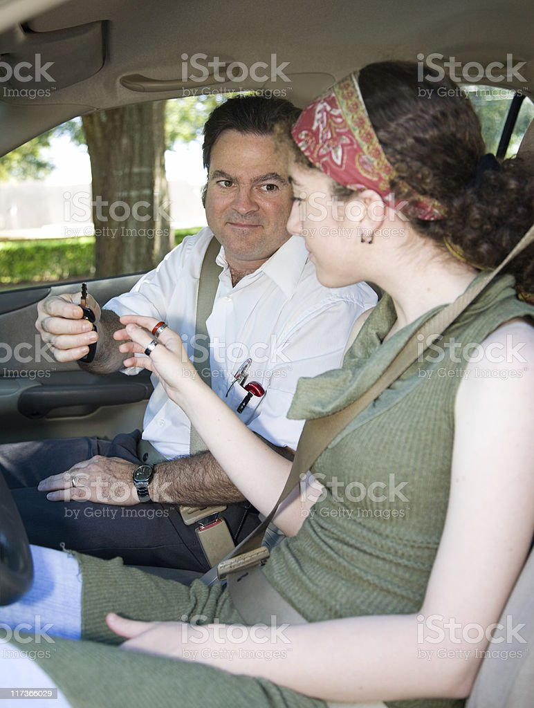 Teen Driving Test Begins royalty-free stock photo