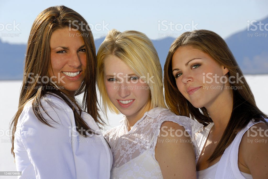 Teen Fashion Models royalty-free stock photo