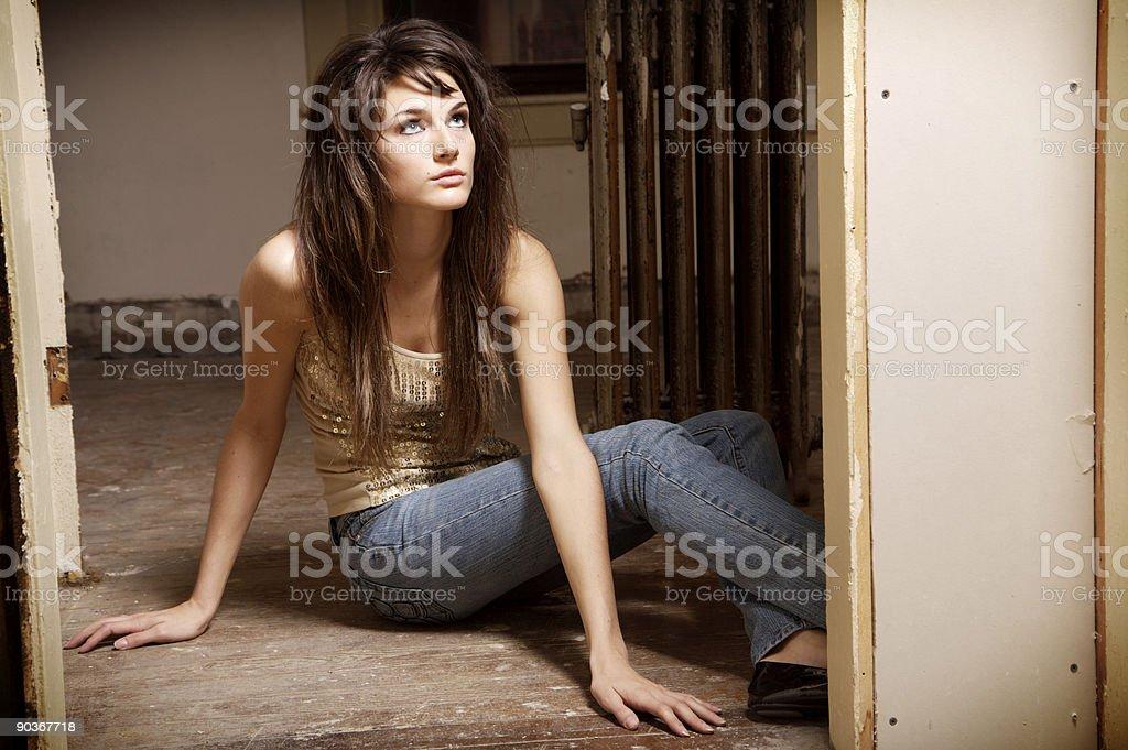 teen female loft portraits royalty-free stock photo
