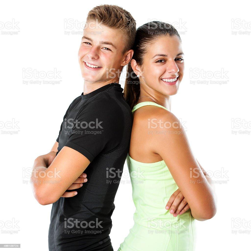 Teen couple de remise en forme. photo libre de droits