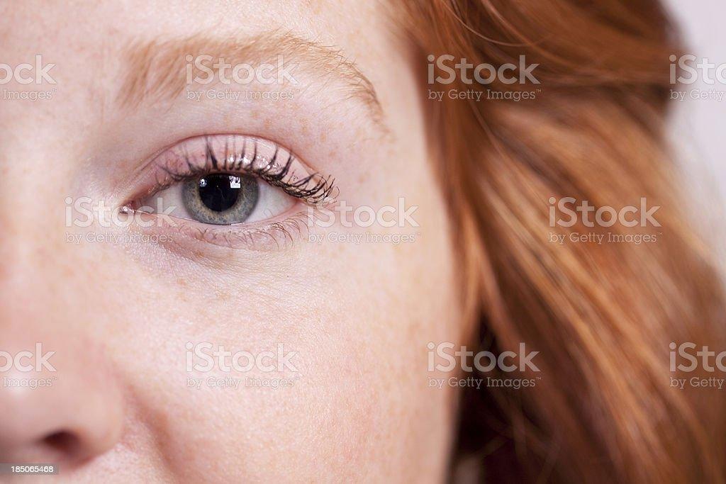 Teen Girl Closeup stock photo