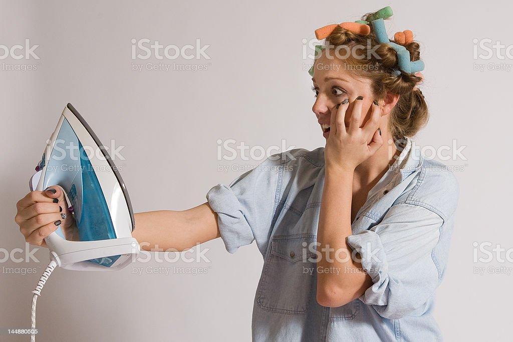 Teen girl houseworking royalty-free stock photo