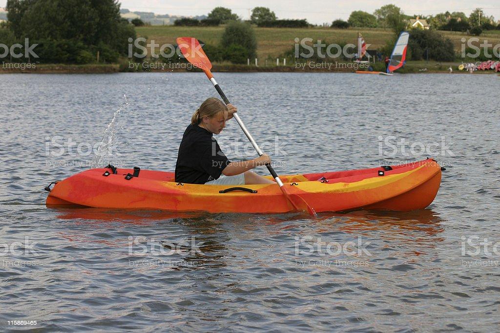 Teen girl in Kayak royalty-free stock photo