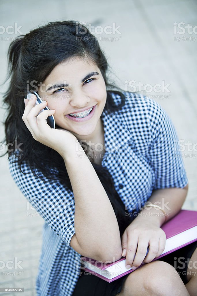 Teen Girl on the Phone royalty-free stock photo