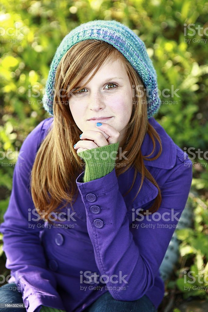 Teen Girl Portrait royalty-free stock photo