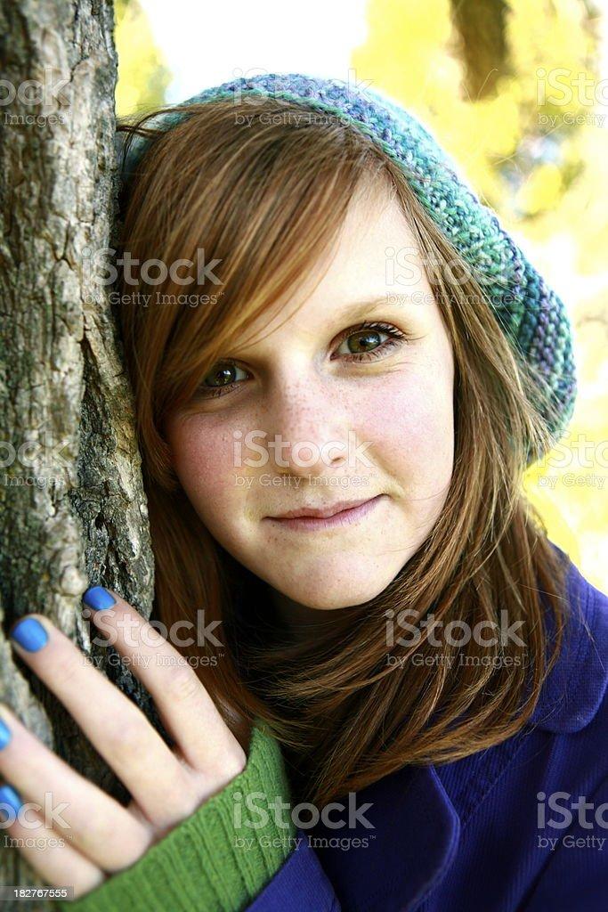 Teen Girl Portrait royalty-free stock photo