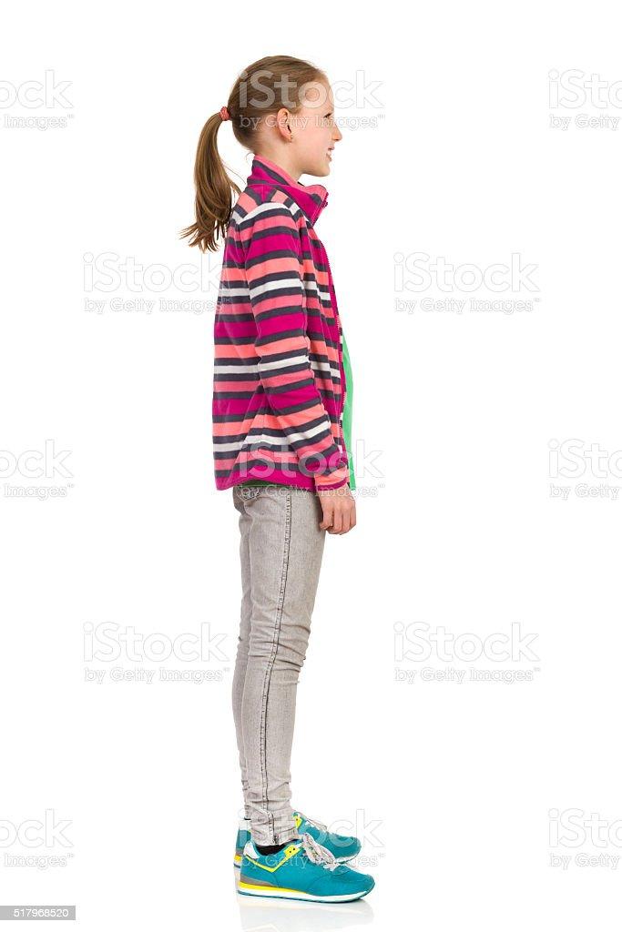 Teen Girl Side View stock photo