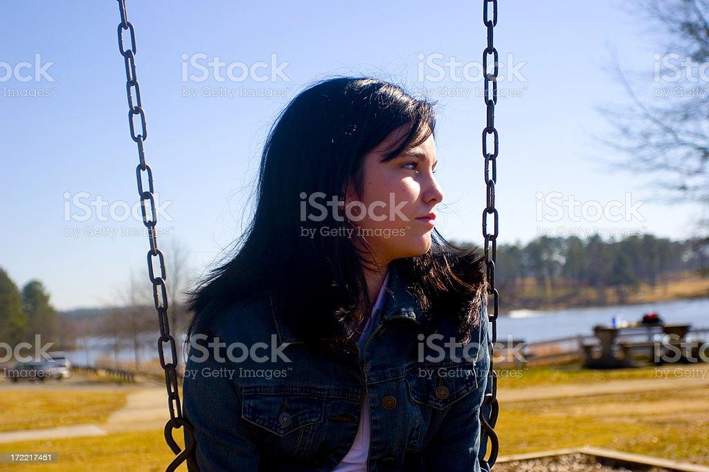 Teen Girl Thinking royalty-free stock photo
