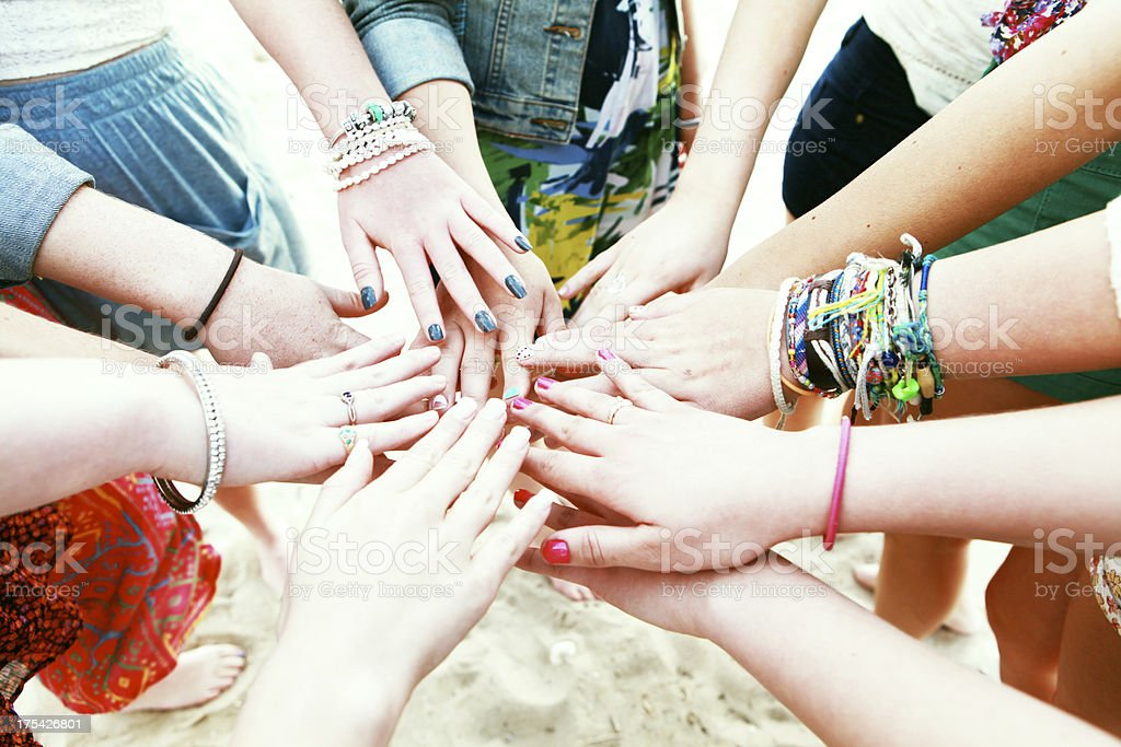 Teen Girls Friendships royalty-free stock photo