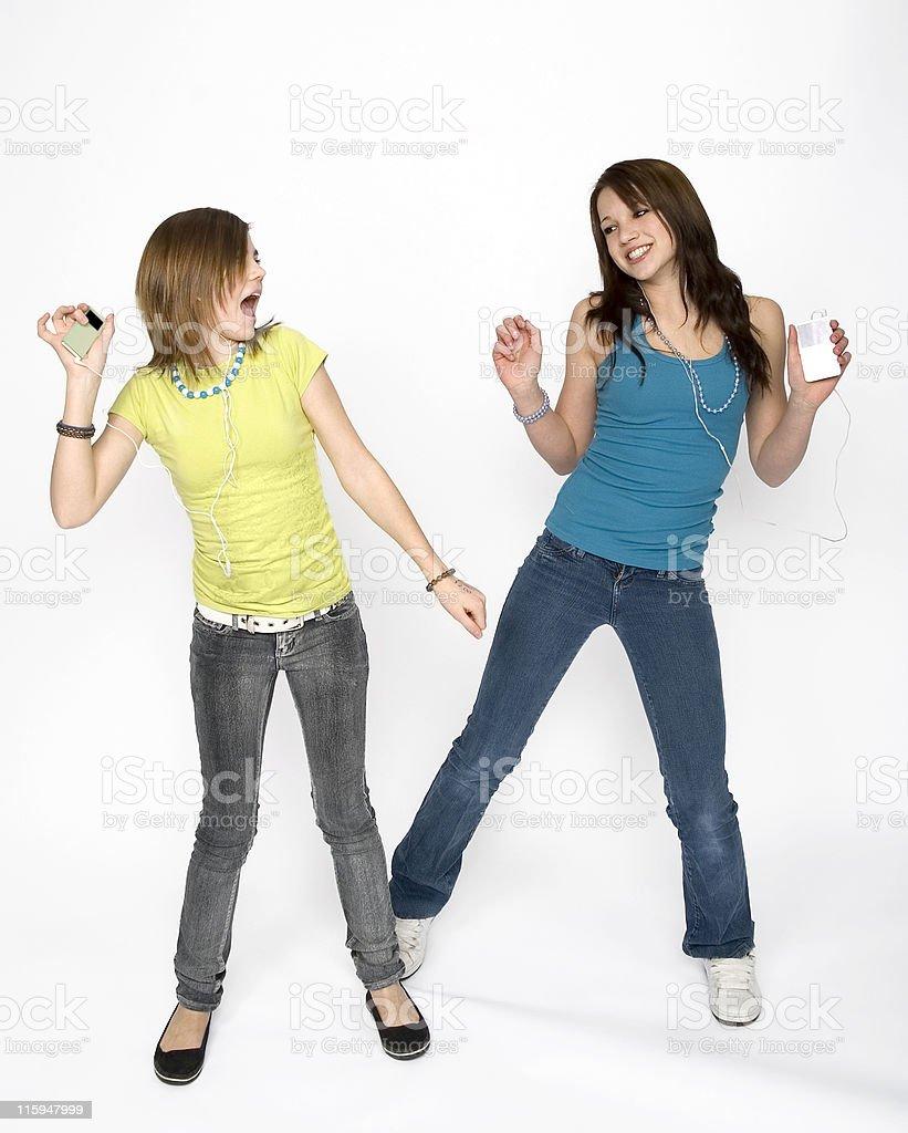 Teen girls having fun royalty-free stock photo