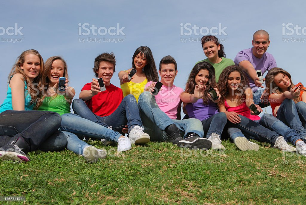 teen group stock photo