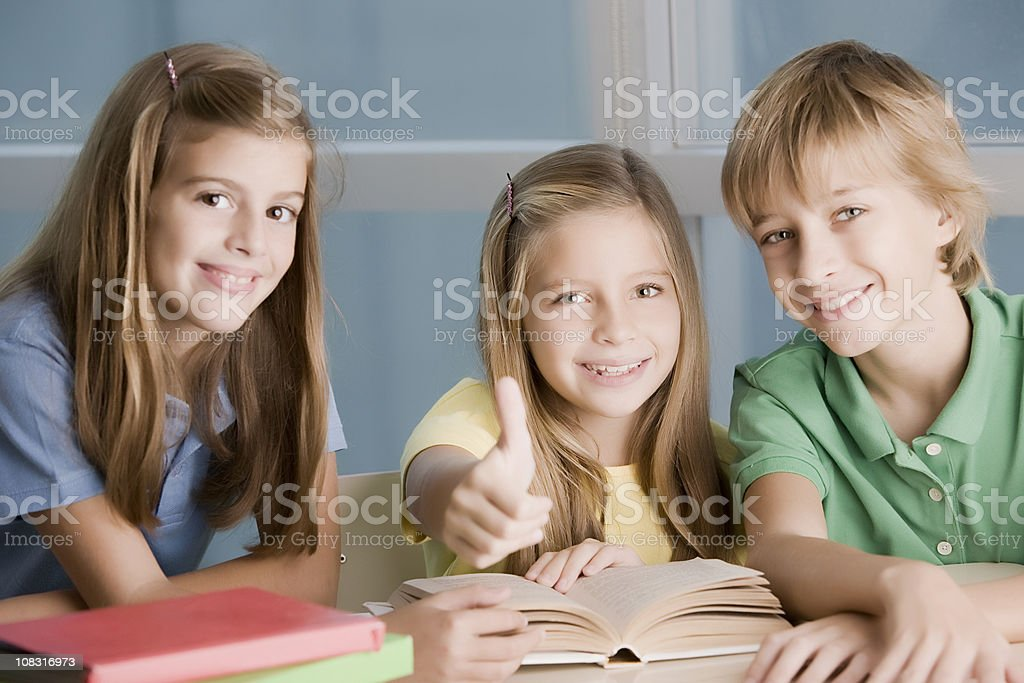 Teen Group Studying royalty-free stock photo