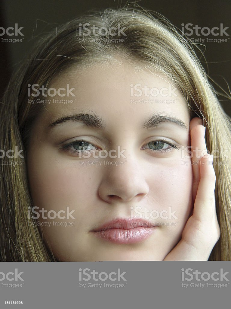 teen - I see you royalty-free stock photo