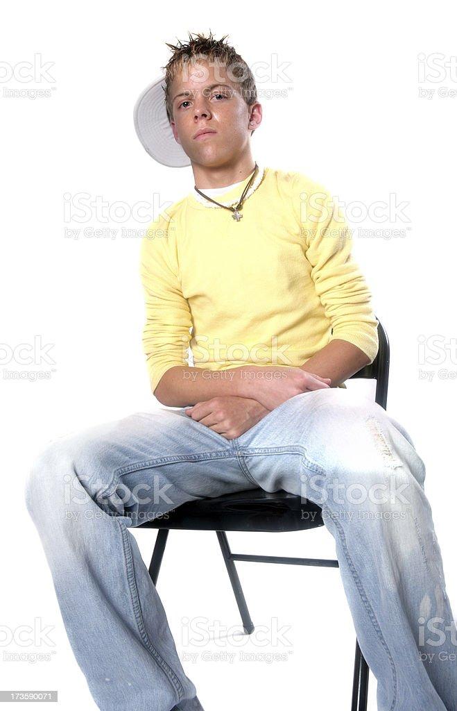 Teen in Chair stock photo