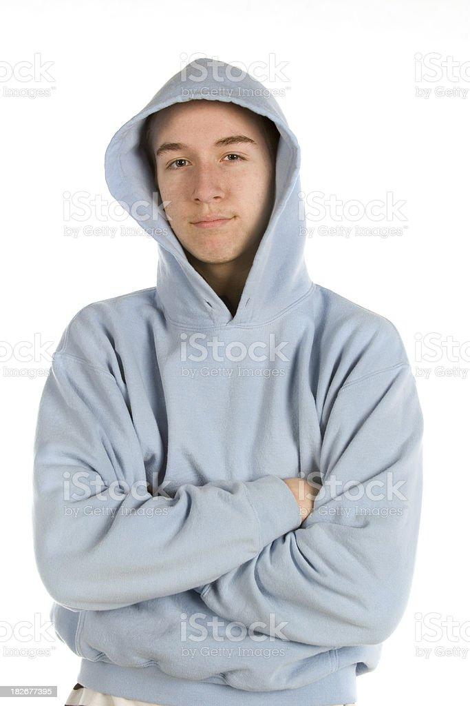 Teen in hoodie royalty-free stock photo