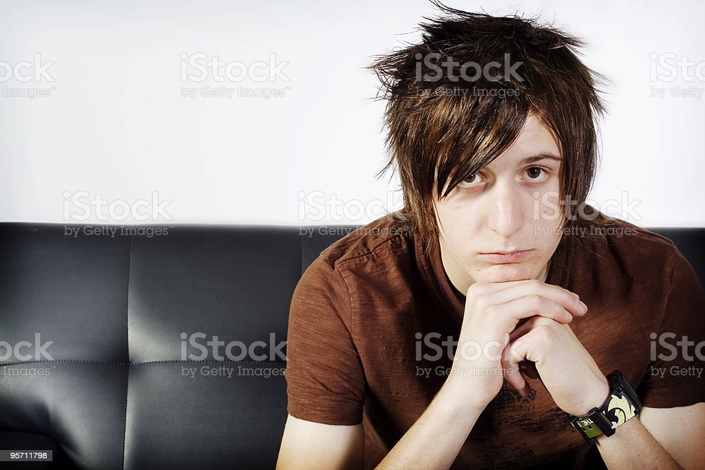 Teen in thought royalty-free stock photo