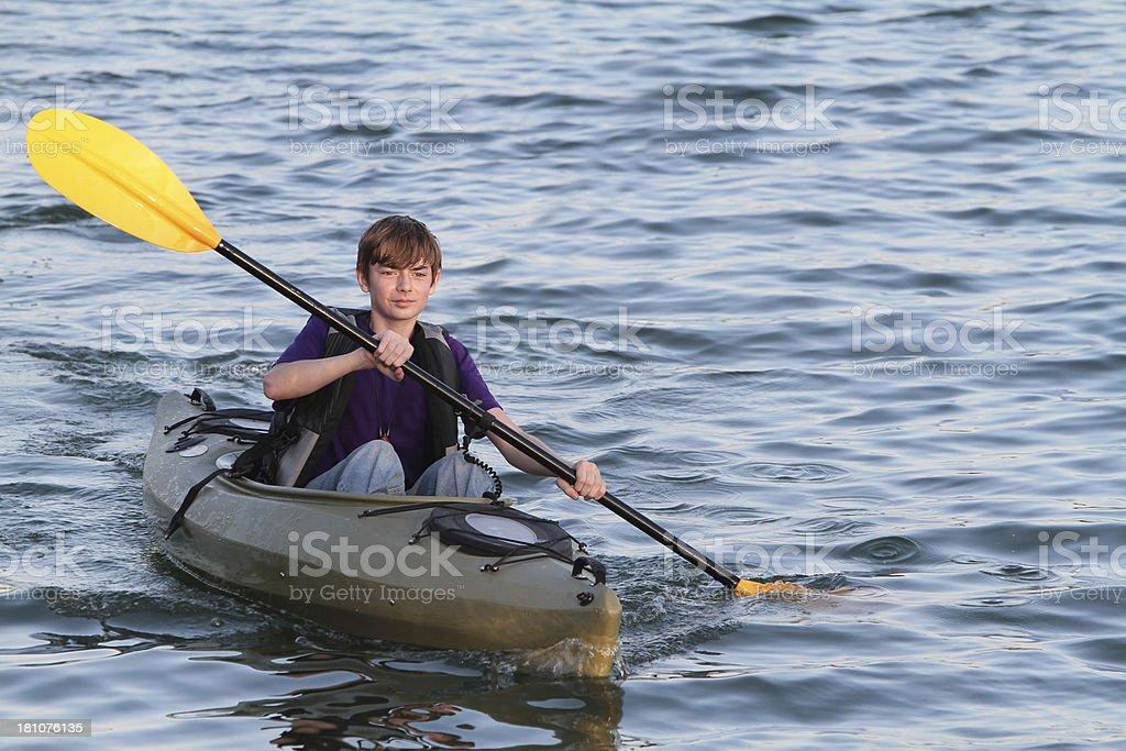 Teen Kayaking royalty-free stock photo