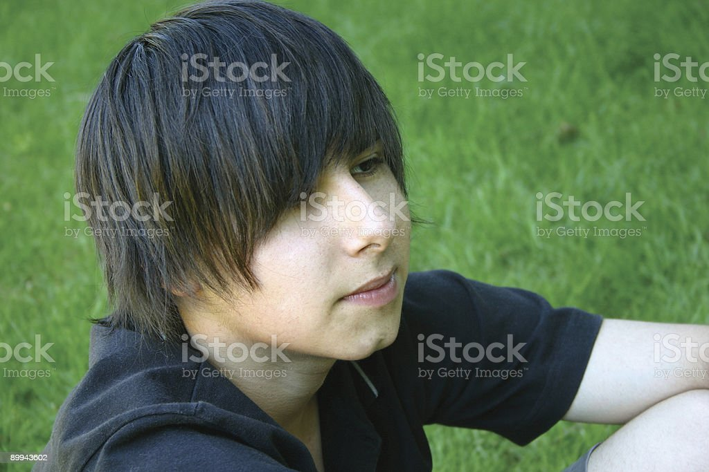 Teen Looking Out royalty-free stock photo