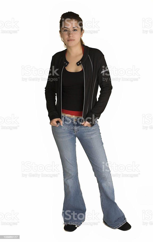 Teen model stock photo