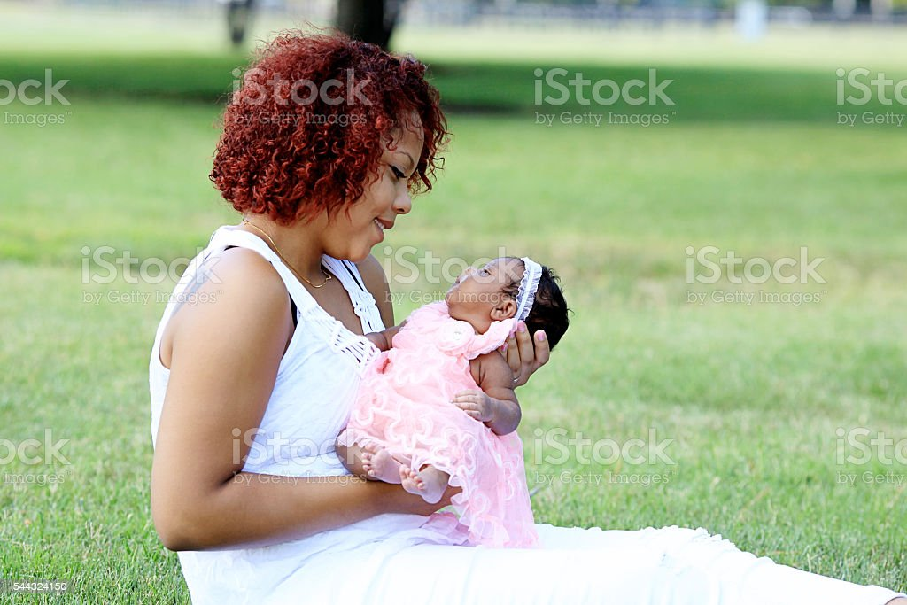 Teen Mother stock photo