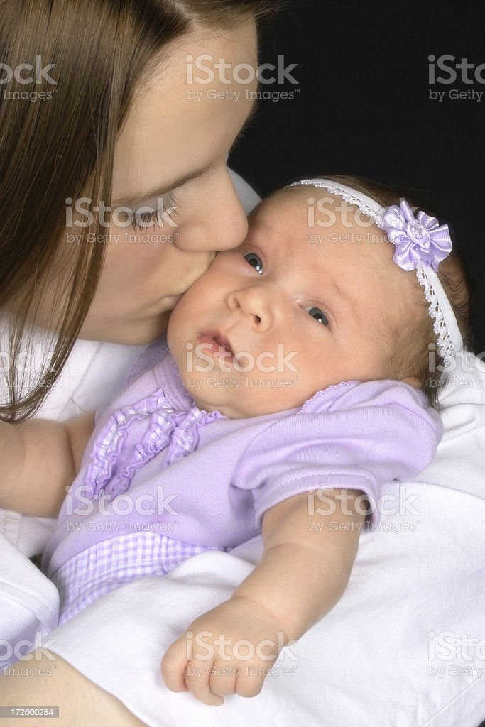 Teen Mother with Baby Girl royalty-free stock photo