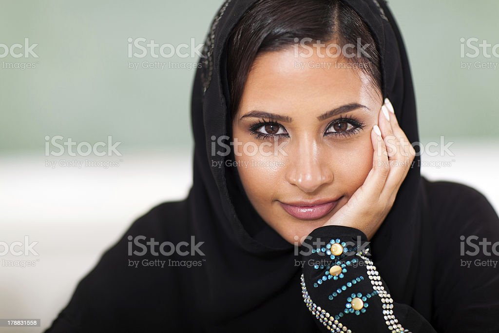 teen Muslim female student royalty-free stock photo