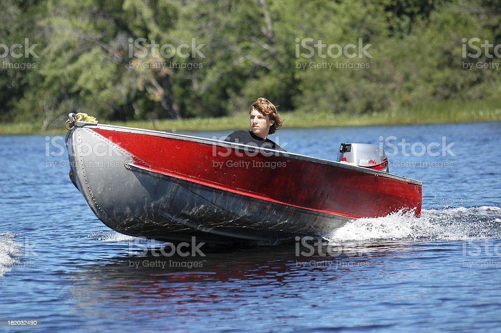 Teen on the lake royalty-free stock photo