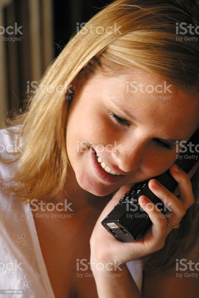 Teen On The Phone royalty-free stock photo