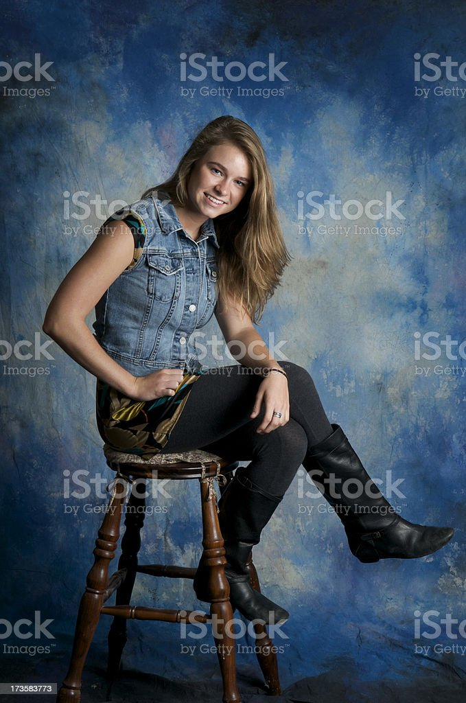 Teen Portrait royalty-free stock photo