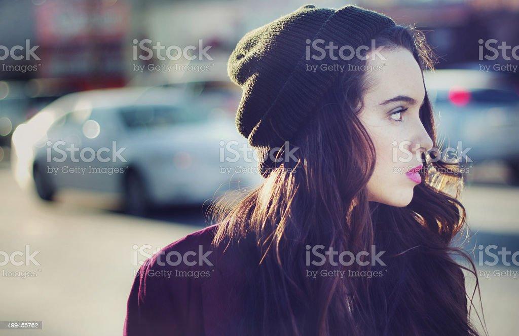 Teen portrait stock photo