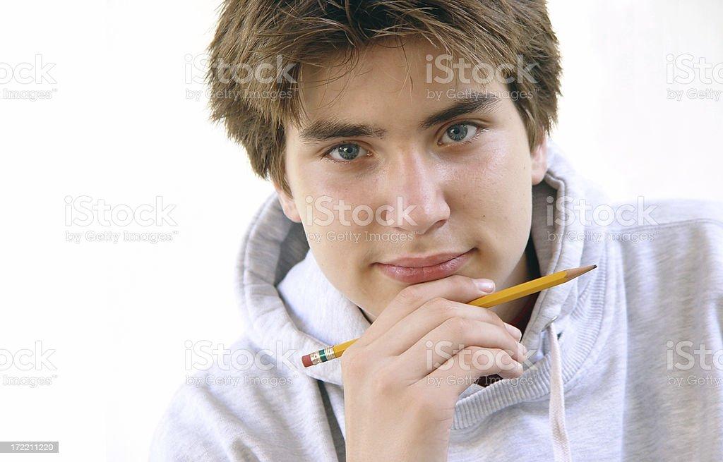 teen portrait - ready to study royalty-free stock photo