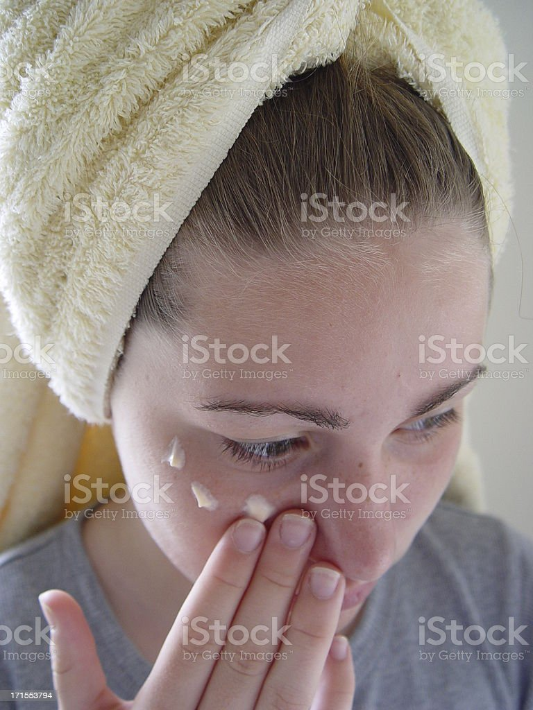 teen portrait - skincare royalty-free stock photo