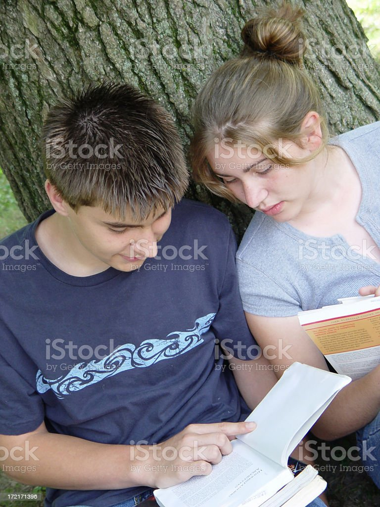 teen portraits - studying 1 royalty-free stock photo