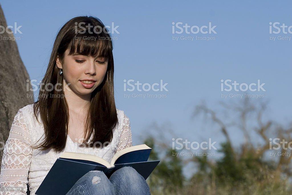 Teen Reading Book stock photo